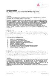 Einführungskurs für Betreuerinnen und Betreuer im Entlastungsdienst