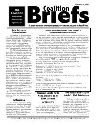 September 16, 2005 - The Coalition of Behavioral Health Agencies ...