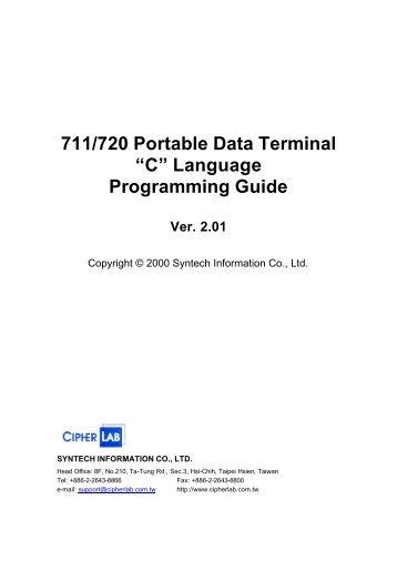 711/720 Portable Data Terminal - Kalisch Computer- und ...