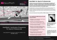HeartMath Sports Certification Programme - Beyond the Barriers