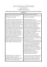 1 Komentarz do Etyki nikomachejskiej Księga VIII, lekcja 1 Przyjaźń ...