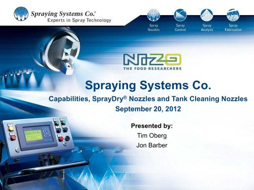 SprayDry® Nozzle History - Spraying Systems Co.