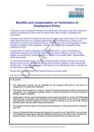Benefits and Compensation on Termination of Employment Policy