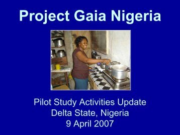 Project Gaia Nigeria - BioEnergy Discussion Lists