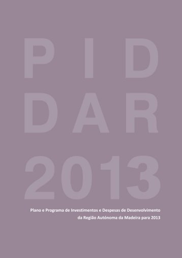 Proposta de PIDDAR 2013 - Instituto de Desenvolvimento Regional