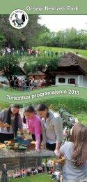 Turisztikai programajánló 2013 - Őrségi Nemzeti Park