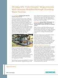 Fish-Friendly - Siemens Water Technologies