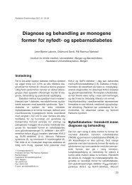 og spebarnsdiabetes - Pediatrisk Endokrinologi