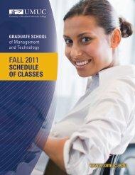 FALL 2011 - University of Maryland University College