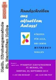 Rundschreiben aus aktuellem Anlass! - St. Maximilian Kolbe