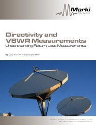 Directivity and VSWR Measurements - Marki Microwave