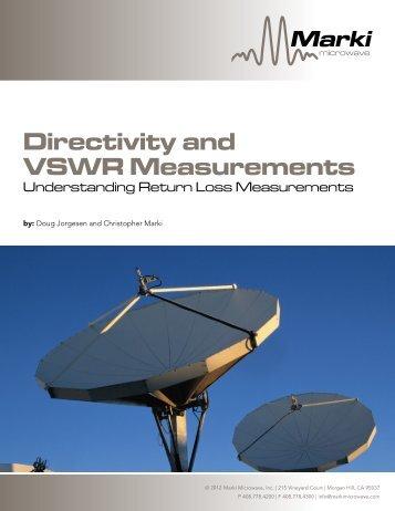 Directivity and VSWR Measurements - Marki Microwave