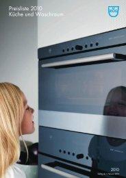 Preisliste 2010 Küche und Waschraum - V-ZUG Ltd