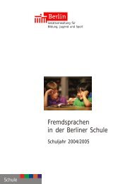 Fremdsprachen in der Berliner Schule - Berlin Business Location ...