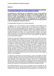 Singularidades territoriales y problemas ambientales en Argentina