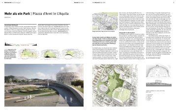 Mehr als ein Park | Piazza d'Armi in L'Aquila - Bauwelt