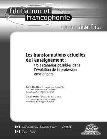 Les transformations actuelles de l'enseignement - acelf