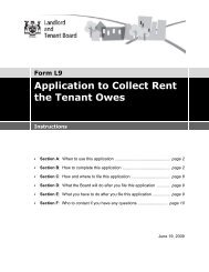 Form L9 Application to Collect Rent the Tenant Owes - Landlord ...