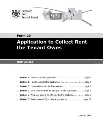 Tenant Application For A Rebate Form T Instructions  Landlord
