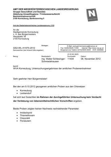 Trinkwasseranalyse - Korneuburg