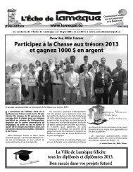 l'écho de lamèque, juin 2013 - Canadamunicipal.ca