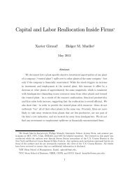 Capital and Labor Reallocation Inside Firms*