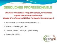 DEBOUCHES PROFESSIONNELS - Rhone Solidaires