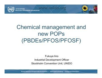Chemical management and new POPs (PBDEs/PFOS/PFOSF) - unido