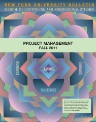 PROJECT MANAGEMENT - School of Continuing and Professional ...