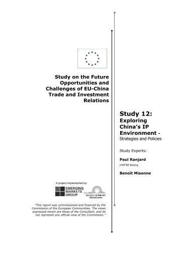 Study 12: - Trade Websites