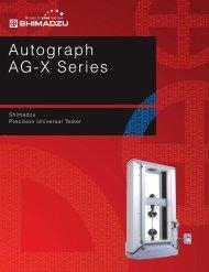 Catalogue AG-X series (2 MB, PDF) - Shimadzu Europa GmbH