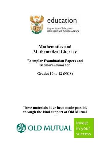 Mathematics and Mathematical Literacy - Thutong