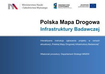 Polskiej Mapy Drogowej Infrastruktury Badawczej