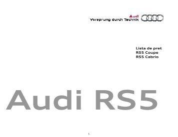 Descărcare listă de preţ - PDF - Audi Romania