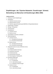 Behandlung von Menschen mit Essstörungen (März 2006)
