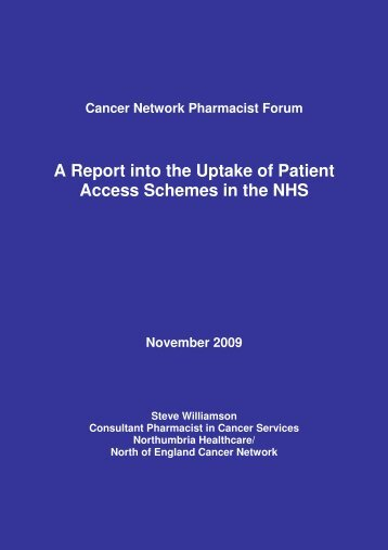 A Report into the Uptake of Patient Access Schemes in the ... - BOPA