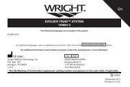 evolve® triad™ system 146884-2 - Wright Medical Technology, Inc.