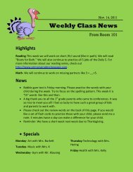 Weekly Class News