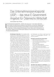 (USP) – das neue E-Government- Angebot für Österreichs Wirtschaft