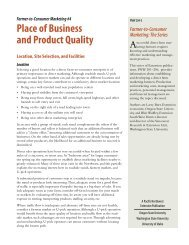 Place of Business and Product Quality - Oregon State University ...