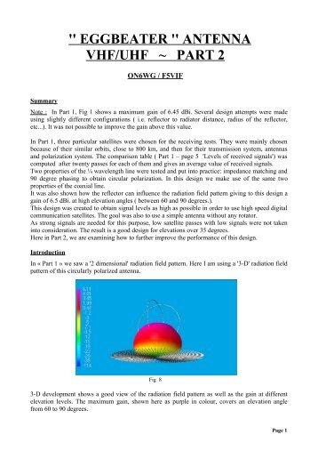 '' eggbeater '' antenna vhf/uhf ~ part 2 - ON6WG / F5VIF Web Page