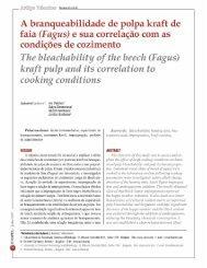 Artigo Técnico - A branqueabilidade de polpa ... - Revista O Papel