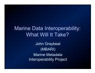 Marine Data Interoperability: What Will It Take? - Marine Metadata ...