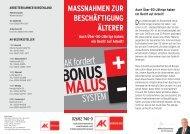 Bonus Malus - AK Burgenland - Arbeiterkammer