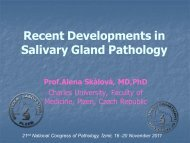 Recent Developments In – Salivary Gland Pathology Prof.Alena