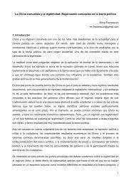 La China comunista y la legitimidad - Instituto de Altos Estudios ...
