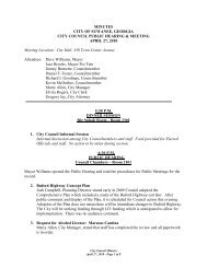 City Council Minutes April 27, 2010 - Suwanee, Georgia