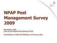 NPAP Pest Management Survey 2009 - East Midlands Councils