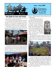 June – July, 2007 - Sierra Club - Angeles Chapter