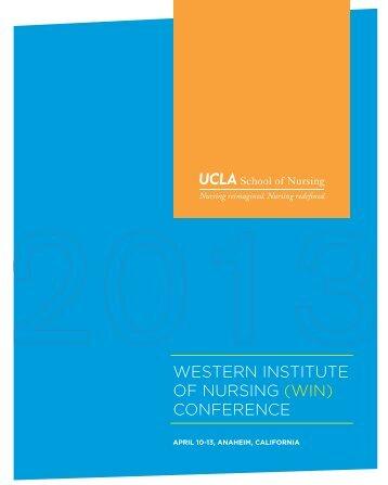 western institute of nursing (win) conference - UCLA School of Nursing